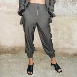Zara minimalist heeled leather mules